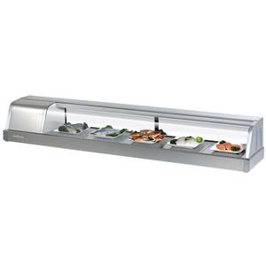Turbo Air 70in Refrigerated Glass Sushi Case Stainless - SAKURA-70