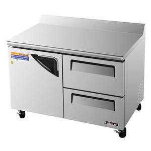 Turbo Air 49 Stainless Steel Worktop Cooler 12 Cu.ft 2 Drawers - TWR-48SD-D2