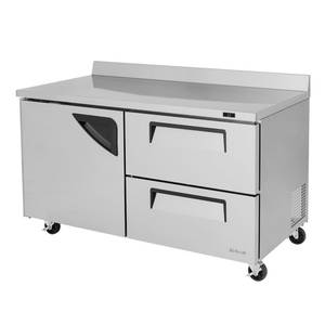 Turbo Air TWR-60SD-D2 60in Commercial Worktop Cooler 16 Cu.ft Stainless 2 Drawers