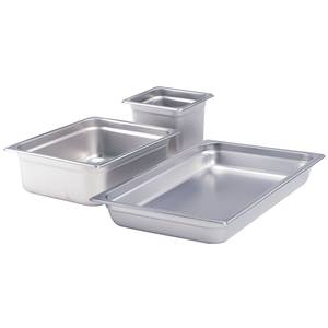 Crestware S/s Half Size Steam Table Pan 4in Deep Heavy Duty - 2124