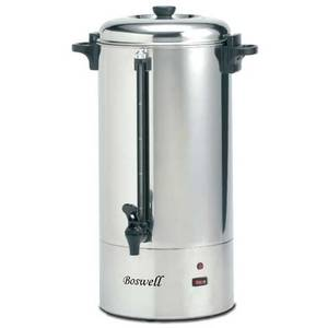 Boswell PC 190C/290C 100 Cup Coffee Percolator Stainless Steel