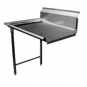 36W Left Clean Straight Dishtable 16 Gauge Stainless Steel - DT36C-L