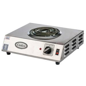 Cadco Single Burner Hotplate Range Electric Stainless 1100 Watts - CSR-1T