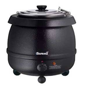 Boswell Soup Kettle 11 Quart Capacity Black - SK600