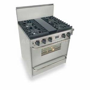FiveStar T*N281-7BW 30 Residential Stainless 4 Burner Gas Range Convection Oven