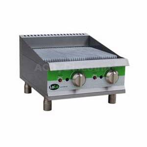 LoLo LCB24RMPF 24 Natural Gas Charbroiler Countertop Manual Controls