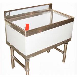 Klingers Trading 36 Wide Stainless Ice Chest with Drain - IC-1836