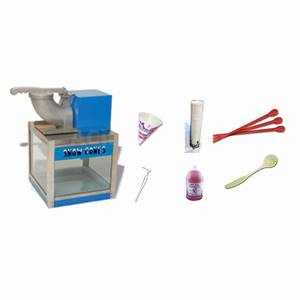 Benchmark Snow Bank Snow Cone Machine with Snow Cone Starter Kit - 720**