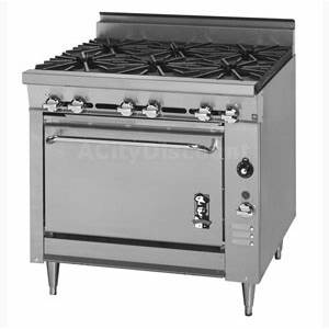 Montague 36 Legend Series Gas Range 4 Wide Burner w/ Convection Oven - V136-5A