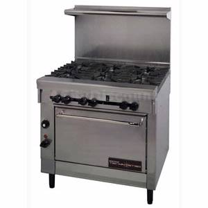 Montague TechnoStar 36 6 Burner Gas Range with Std Oven Stainless - T26-6
