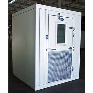 Amerikooler 6X8CF+STI075MR404A2 6 x 8 Indoor Walk In Cooler 7'7ft H w/ Floor & Refrigeration