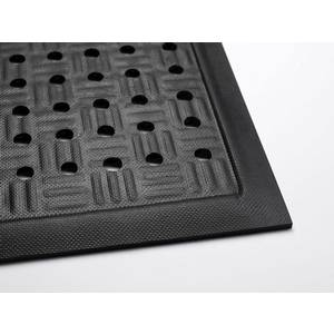 Andersen Company Cushion Station Floor Mat with Holes 2 x 3 Anti-Static Black - 371-2-3.2