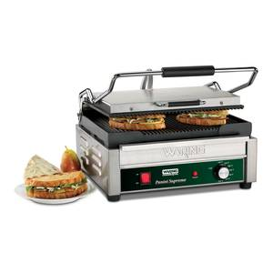 Waring WPG250 Sandwich Panini Grill 14.5 x 11 Ribbed 120v