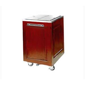 Food Warming Equipment Mobile Ice Bin Cart Insulated Mahogany Exterior - AS-IC-200-MW