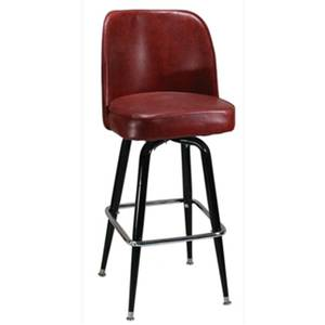 H&D Commercial Seating 6307 Black Metal Bar Stool with Swivel Bucket Seat Color Options