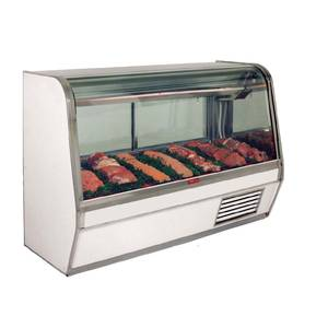 Howard McCray SC-CMS32E-8C 98 Refrigerated Red Meat Display Case Curved Glass White