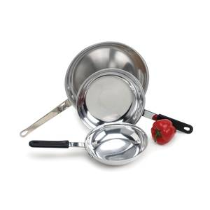 Crestware Polished Natural Finish 8in Induction Fry Pan - FRY08IH