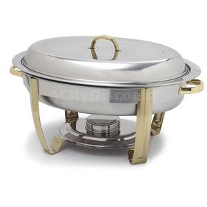 Carlisle 6 Quart Oval Chafing Dish Stainless - 609510
