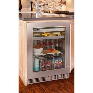 Perlick Residential 24 Beverage Cooler with Stainless Steel Glass Door - PR-HP24BO-3*