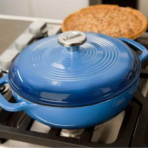 Lodge 3 Quart Enamel Dutch Oven Blue 9 Diameter - EC3D33