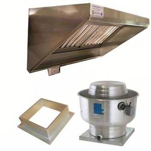 Superior Hoods 4FT CONCESSION HOOD PACKAGE 4ft Concession Hood System Package with Exhaust Fan & Curb