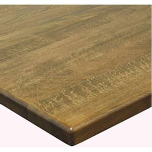 H&D Commercial Seating TWD24R 24 Round Solid Wood Restaurant Table Top w/ Finish Options