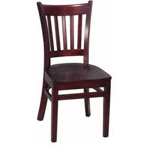 H&D Commercial Seating 8242 WOOD Wooden Slat Back Dining Chair with Finish Options