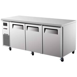 Turbo Air JUR-72 72in Side Mount Undercounter Refrigerator with 3 Swing Doors
