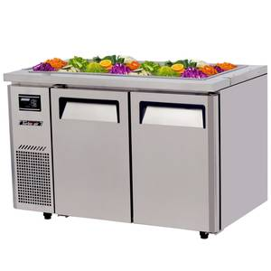 Turbo Air 48 Refrigerated Buffet Display Table Stainless w/ Casters - JBT-48