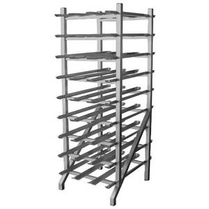 Aluminum Welded Can Rack Holds 162 Cans - AAR-CRAW