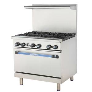 Radiance TARG-2B24G/TARG-24G2B 36 Commercial Gas Range w/ Std Oven 2 Burners & 24 Griddle