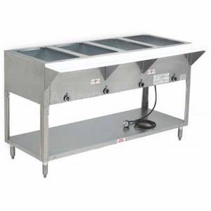 Supreme Metal HF-5E-208/240-BS 5 Well Dry Electric Hot Food Table with Enclosed Base