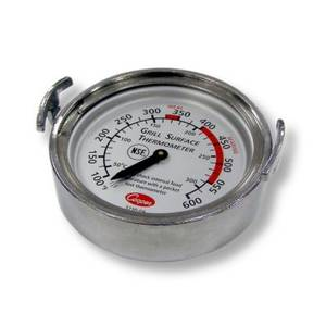Cooper Atkins 3210-08-1-E 2.5 Diameter Grill Thermometer Aluminum NSF
