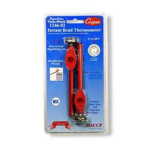 Cooper Atkins 1246-02-2 1 Pocket Thermometer Instant Read Twin Pack