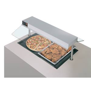 Hatco 48W Built-In Heated Shelf Foodwarmer 21 Depth Recessed Top - GRSB-48-I-120QS