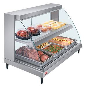 Hatco 45.5W Curved Glass Dual Shelf Display Case w/ Humidity - GRCDH-3PD-120-QS