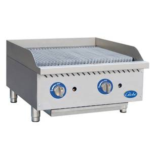 Globe GCB24G-SR 24in Gas Charbroiler Stainless Steel Radiant