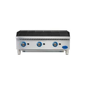 Globe GCB36G-RK 36 Commercial Char Rock Charbroiler Natural Gas