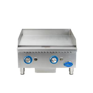 Globe 24 Counter-Top Natural Gas Griddle with Manual Control - GG24G