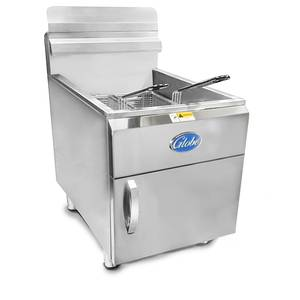 Globe GF30 30lb Counter Top Deep Fryer Gas Stainless 53000 BTUs