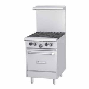 Garland G24-4L 24in G Series Starfire Pro Gas Range 4 eye