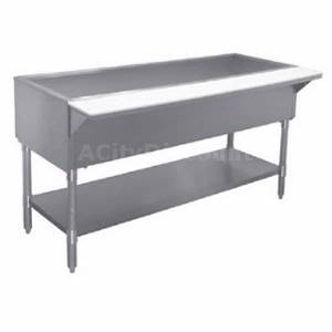 APW Wyott CT-2 33 Stationary Cold Well Buffet Table Galvanized Undershelf