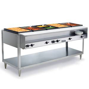 Vollrath 5 Well Electric Hot Food Table S/s with Cutting Board 2400W - 38005