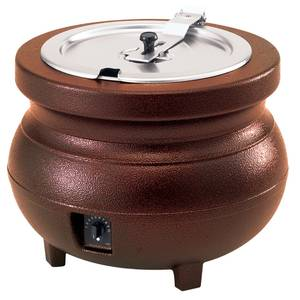 Vollrath Cayenne 7 Quart Kettle Copper Cast Aluminum w/ Inset & Cover - 72171
