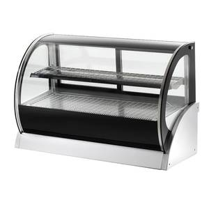 Vollrath 59 Heated Curved Glass Deli Countertop Display Case 2 shlvs - 40857