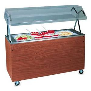 Vollrath R38773 46 Mobile Refrigerated Food Station Cherry w/ Solid Base