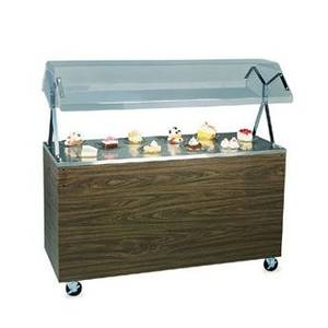 Vollrath 46 Mobile Refrigerated Cold Food Station Walnut w/ Lights - R3895046