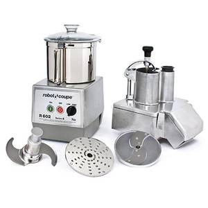 Robot Coupe R602 Combo Food Processor w/ 2 Disc & 7 Quart Stainless Bowl