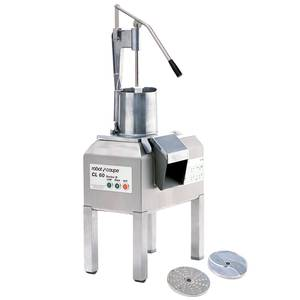 Robot Coupe Stainless Vegetable Food Processor 4 HP w/ 2 Disc & Stand - CL60 PUSHER SERIES D