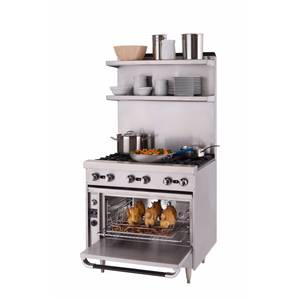 Blodgett BP-6-36 Phoenix Heavy Duty Range with Open-Top Burners on Oven Base